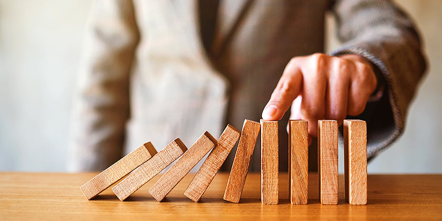 Corona Unternehmen Hilfe: Domino-Effekt
