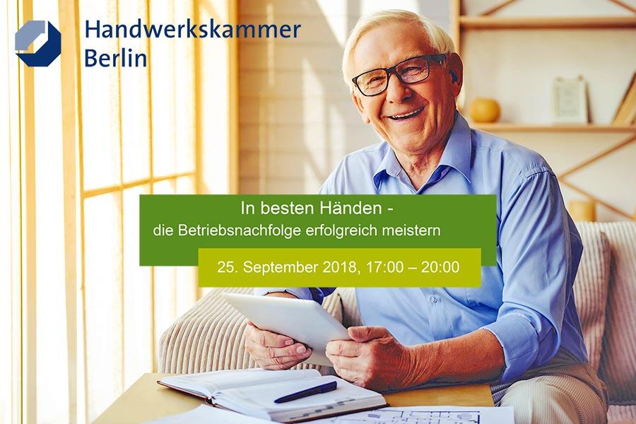 HWK Veranstaltung: Betriebsnachfolge sicher meistern