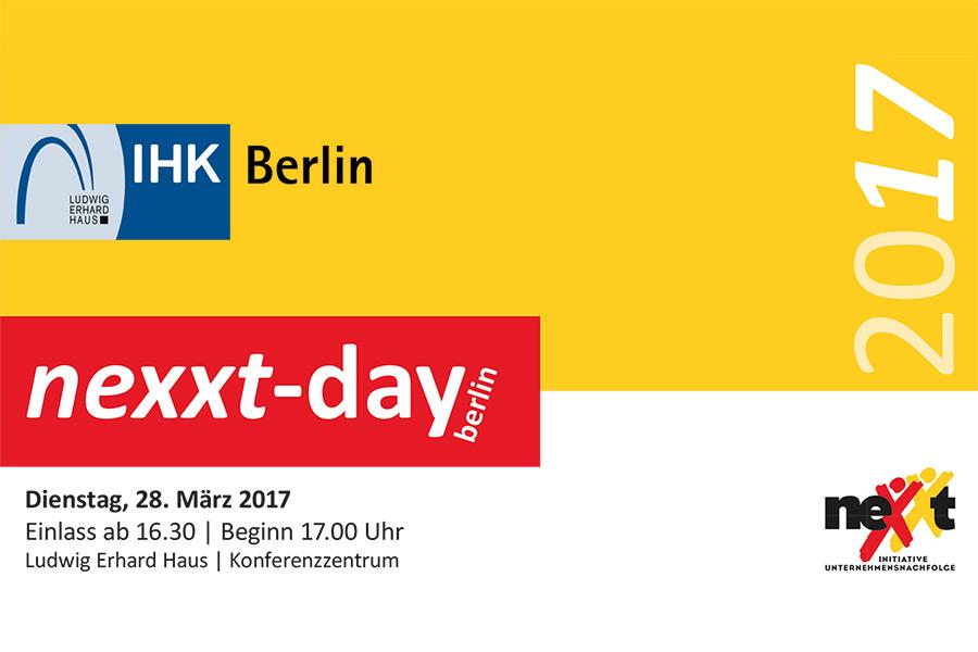 17. nexxt-day in Berlin mit den Nachfolge-Experten