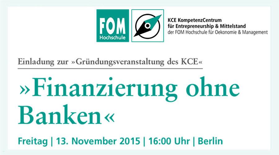 Finanzierung ohne Banken – Gründungsveranstaltung des KCE