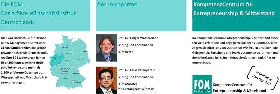 Prof. Dr. Holger Wassermann, Geschäftsführer von INTAGUS, leitet und koorrdiniert das KompetenzCentrum für Entrepreneurship und Mittelstand in Berlin