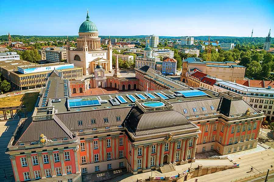 Region Brandenburg: Blick auf Potsdam - INTAGUS hilft