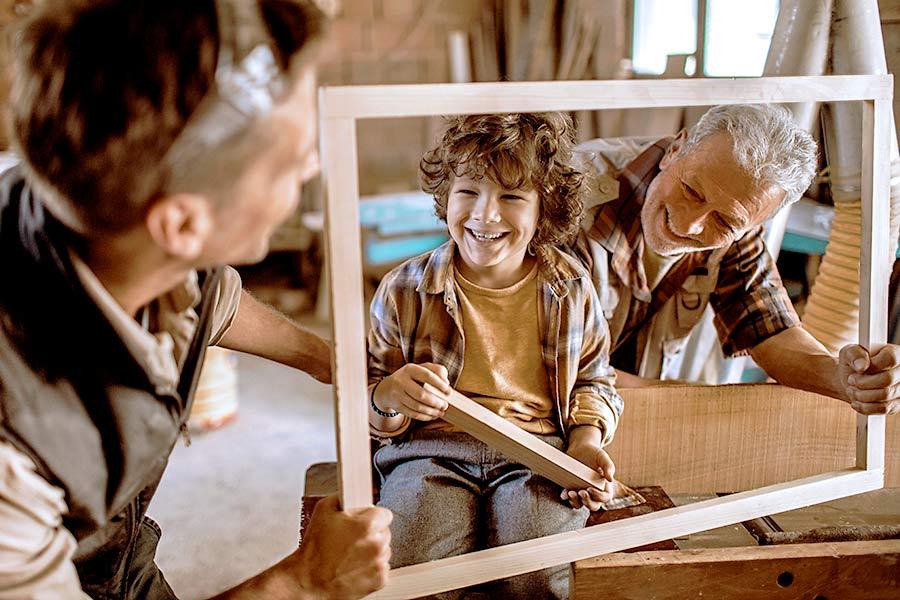 Die familieninterne Nachfolge: Handwerker Familie